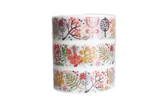 Washi Tape WIDE.  COLORFUL LEAVES
