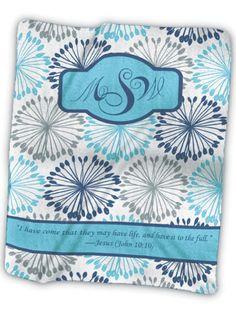 Monogram 4 Fleece Blanket