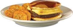 "Steak 'n Shake ® - Pancake Sandwich ""Panwich"" 'n Hash Browns"