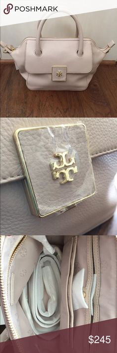 💠 Tory Burch Mini Clara Handbag New with tags and wrapping, amazing mini bag, great neutral creamy almond color, msrp $425 Tory Burch Bags