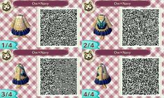 Sweater & skirt w/ backpack: ACNL QR clothes