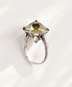 Citrine Ament Ring by Unearthen