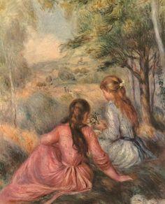 "Auguste Renoir ""Two girls on a meadow"" http://mondialart.co.uk"