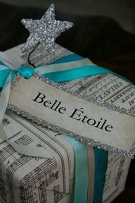 Use old music sheets for wrapping paper. I'm thinking this would be perfect for you, @Emily Volek!