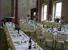 Appuldurcombe Great Hall with tables