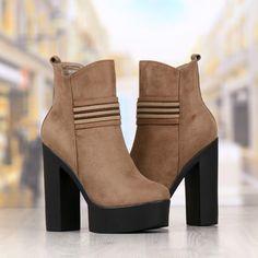 Botine Dama Khaki Cu Toc Cod: 231p Booty, Shoes, Fashion, Moda, Swag, Zapatos, Shoes Outlet, Fashion Styles, Shoe