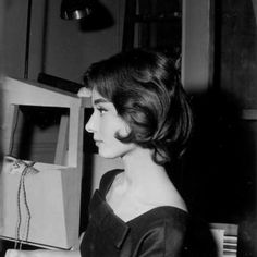 Audrey Hepburn hair test for Love in the Afternoon by Raymond Voinquel, Paris, France, 1956
