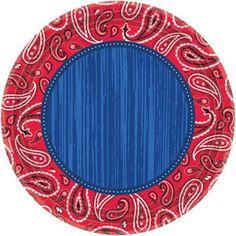 Large Bandana Western Plates