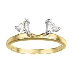like this but in white gold for a wedding band....Trillion Prong Set Diamond Ring Wrap in 14K Yellow Gold