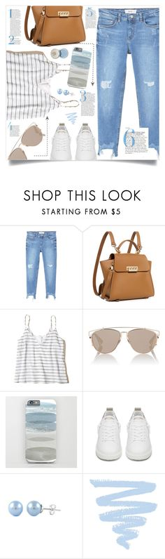"""""""OOTD - Street Style Spring"""" by by-jwp ❤ liked on Polyvore featuring MANGO, ZAC Zac Posen, Hollister Co., Christian Dior and Golden Goose"""