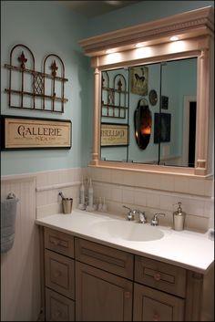 bleu hydrangea: French-Inspired Bathroom Re-do