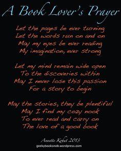 Book lovers prayer