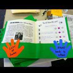 Take Home Folder... Love this idea for setting up routines for the beginning of the school year!