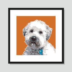 Pop Art: Wheaten Terrier Poster  | Dogccessories.com #dogart #wheatenterrier