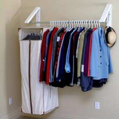 30 Second Mom - : Create Extra Storage Space Under Your Stairs with a Rod