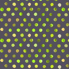 watercolor dots lime on dark grey fabric by katarina on Spoonflower - custom fabric