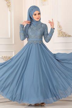 Modaselvim ABİYE Dantelli Şifon Abiye 8812W153 Mavi Cinderella, Disney Characters, Fictional Characters, Disney Princess, Dresses, Handmade Embroidery Designs, Bed, Vestidos