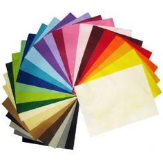 Colourful felt sheets