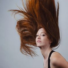 master of flinging her hair around! Photo Series, Suddenly, Scissors, Her Hair, Redheads, Fossil, Long Hair Styles, Photography, Beauty