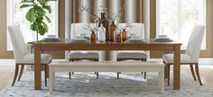 Shop for Bassett Furniture at Woodchucks Fine Furniture & Decor in Jacksonville, FL. Fine Furniture, Dining Furniture, Custom Furniture, Furniture Decor, Rectangle Dining Table, Dining Table In Kitchen, Dining Set, Home Furnishings, Home Decor
