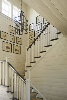 frames on stairs, which are similar to ours (although ours aren't pretty like this!)