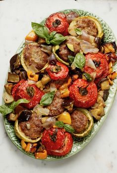 baked vegetables stuffed with meat-verdure al forno ripiene di carne baked vegetables stuffed with meat - Baked Vegetables, Veggies, Mexican Meat, Antipasto, Ratatouille, Meat Recipes, Vegetable Pizza, Italian Recipes, Food And Drink