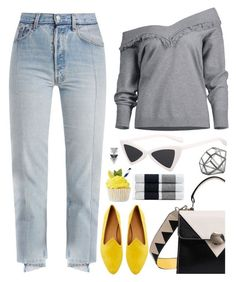"""""""Off the shoulder"""" by deeyanago ❤ liked on Polyvore featuring Vetements, Le Monde Beryl, James Perse and NKUKU"""