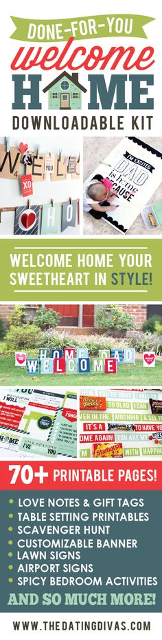 Can't wait to surprise my hubby with these awesome welcome home ideas! www.TheDatingDivas.com
