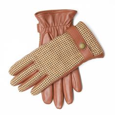 Windsor & wales CHAFFINCH leather rand tweed gloves. Handcrafted in England from the finest leather and handwoven tweed from the Isle of Man.