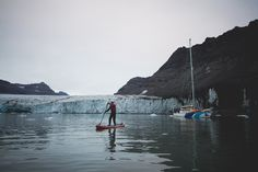 Greenland paddle boarding.