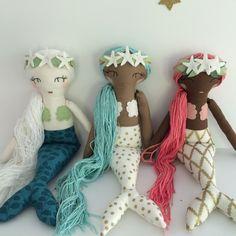 Custom MERMAID Doll Handmade Heirloom Whimsical by aprilmoffatt