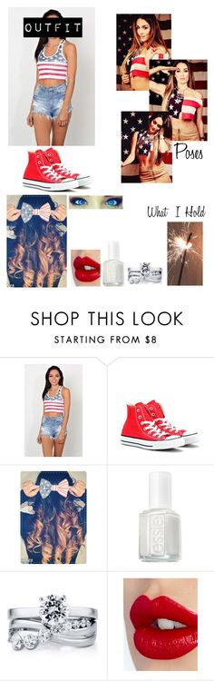 """""""Doing A WWE Fourth Of July Photoshoot"""" by caton-486 ❤ liked on Polyvore featuring Converse, Essie, BERRICLE and Charlotte Tilbury"""