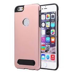 [$2.10] MOTOMO Metal + TPU Protective Case for iPhone 6 Plus & 6s Plus(Pink)