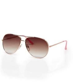 Rose/Gold Aviator Sunglasses