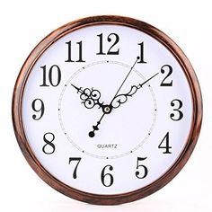 Schöne retro Wanduhr, perfekt für das Wohn- und Schlafzimmer.    #Uhr #Wanduhr #Schlafzimmer #Wohnzimmer #retro #classic #Deko #affiliate Wall Clock Silent, Led Wall Clock, Analog Alarm Clock, Classic Clocks, 257, White Clocks, Kitchen Wall Clocks, Retro Clock, Clocks For Sale