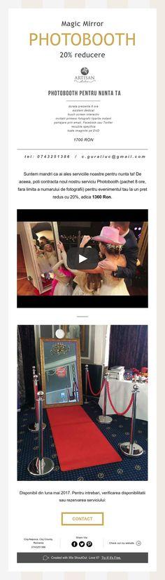 Magic Mirror  PHOTOBOOTH  20% reducere