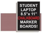 """Chalkboard Student Laptop Marker Board. A set of 30 chalkboard marker boards at one low quantity price of $48! Perfect for the average classroom in an easy to handle size of 8 1/2""""x 11""""!"""