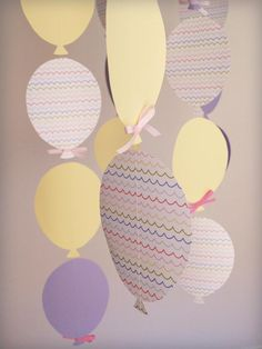 balloon garland (sewn together to make strand)