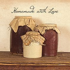Country Primitive Home Decor Catalogs   Homemade with Love (SS-BOY108)