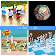 Free Disney Printable Games (Mickey chess, bowling, and more!) | Spoonful #Disney #boredombusters