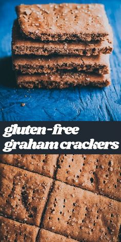 This easy recipe for Gluten-Free Graham Crackers is also vegan, dairy-free, refined sugar-free, and made with a blend of tapioca and buckwheat flour for a deliciously healthy version of store-bought varieties. Whether for snacking, making a cheesecake crust, s'mores, or simply a healthy treat, this easy and healthy graham crackers recipe is certain to become a household staple in no time!  #grahamcrackers #glutenfreegrahamcrackers #vegangrahamcrackers Easy Gluten Free Desserts, Gluten Free Snacks, Gluten Free Baking, Vegan Baking, Vegan Recipes Easy, Vegan Gluten Free, Real Food Recipes, Dairy Free, Snack Recipes