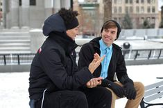 Making conversations with people is something that we do every day. Whether they are with old friends or new acquaintances, every relationship starts with a conversation. Some people are used to ro… Best Winter Jackets, Best Winter Coats, Michael Johnson, Dieter Thomas Heck, Talk To Strangers, Rocker, Good Listener, How To Be Likeable, Communication Skills
