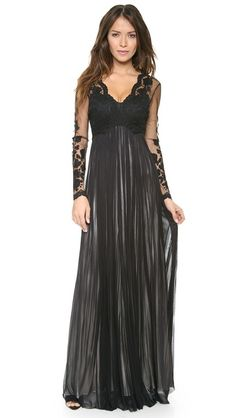 #Catherine Deane Tally gown with applique embroidery detail, now available at @Shopbop