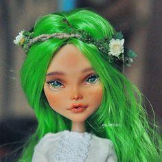 Monster High Cleo De Nile repaint by Neko.Gui. #monsterhigh #doll #ooak #handmade #handpaint #faceup #bjd