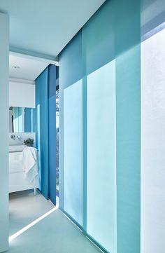 focus panneau japonais en tissu away tourmaline collection heytens le tissu palmyr. Black Bedroom Furniture Sets. Home Design Ideas