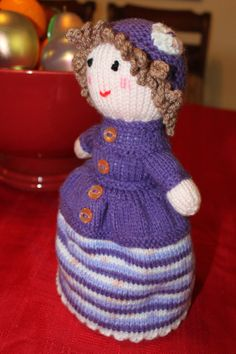 78962199573 English Topsy Turvy Doll Hand Knit Doll by BritanniaHouse