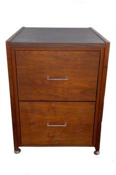 all wood mid century modern minimalist filing cabinet