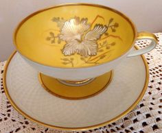 Royal Heidelberg Winterling Cup Saucer Bavaria Foot Gold Old Vintag Antique RARE | eBay