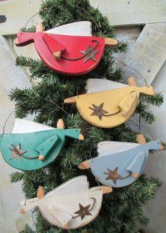 Handmade Flying Angel Ornament