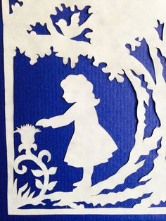 Under the Oak ORIGINAL Handmade Paper Cutting by PaperSnipz